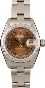 Rolex Lady-Datejust 79160 Brown Roman Dial