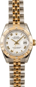 Used Rolex Ladies Datejust 179313 Roman White