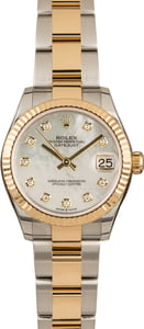 Pre-Owned Mid-Size Rolex Datejust 278273 Diamond Dial