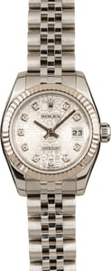 Pre-Owned Rolex Datejust 179174 Silver Diamond Jubilee Dial