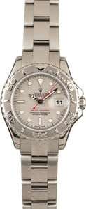 Pre-Owned Rolex Ladies Yacht-Master 169622 Platinum Bezel