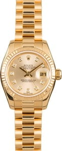 Pre-Owned 26MM Rolex Lady President 179178 Diamond Dial