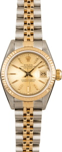Pre-Owned 26MM Rolex Ladies Datejust 69173 Tapestry Dial