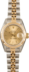 Pre-Owned Rolex Ladies Datejust 69173 Champagne Dial