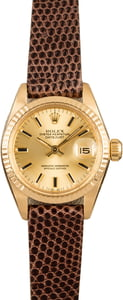 Pre-Owned Rolex Ladies Datejust 6917 18k Yellow Gold