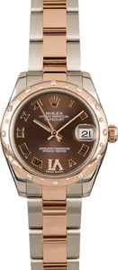 Rolex Datejust 178341 Chocolate Dial Diamond VI