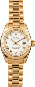 Pre-Owned Rolex Ladies President 179178 Yellow Gold