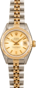 Pre-Owned Rolex Lady Datejust 69173 Tapestry Dial