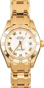 Ladies Rolex Pearlmaster 80318