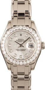 Ladies Rolex Pearlmaster 80299 Diamonds