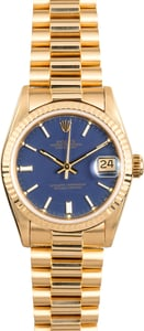 18K Rolex Gold Midsize Watch 68278 Certified Pre-Owned