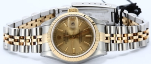 Ladies Rolex Datejust 69173 Two Tone Champagne