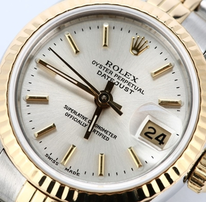 Ladies Rolex Datejust 69173 Silver Index