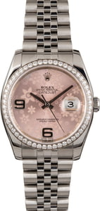 Pre Owned Rolex Floral Datejust 116244 Diamond Bezel