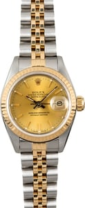 Datejust Ladies Rolex 69173 Champagne