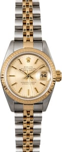 Datejust Ladies Rolex 69173 Champagne Tapestry