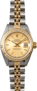 Datejust Lady Rolex 69173 Champagne Tapestry