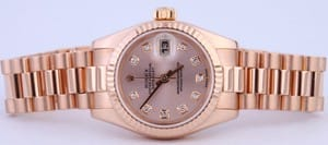 Rose Gold Ladies Rolex President