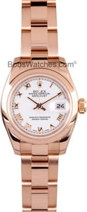 110061 Lady Rolex Datejust Rose Gold