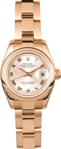 Pre Owned Ladies Rolex Datejust 179165 Rose Gold