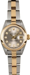 Ladies Datejust 79163 Silver Diamond Dial