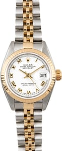 Datejust Ladies Rolex 79173 White Roman Dial