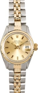 Vintage Ladies Rolex Date 6517 Two-Tone