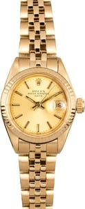 Ladies Rolex Date 6917 Honeycomb Jubilee