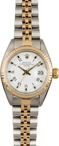 Used Rolex Date 6917 White Roman Dial