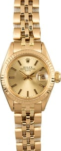 Ladies Rolex Date 6917 Honeycomb
