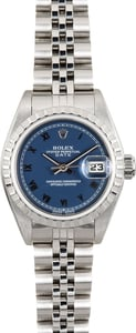 Ladies Rolex Date 79240 Blue Roman