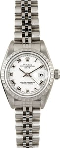 Ladies Rolex Date 79240 White Dial