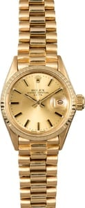 Ladies Rolex Datejust 6517 Gold President