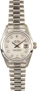 Ladies Rolex Datejust 69166 Platinum