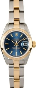 Ladies Rolex Datejust Blue Dial