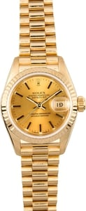 Ladies Gold Rolex President 69178