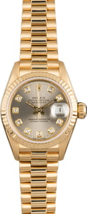 Rolex Ladies Datejust 69178 Rhodium Dial