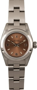 Ladies Rolex Oyster Perpetual 67180 Salmon Dial