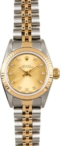 Ladies Rolex Oyster Perpetual 67193 Diamond
