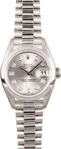 Ladies Rolex Platinum Presidential 79166