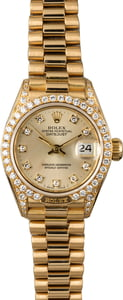 Ladies Rolex Diamond President 69158