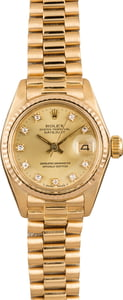 Pre-Owned Rolex President 6917 Diamond Dial