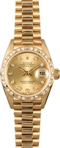 Ladies Rolex Presidential 69258 Diamonds