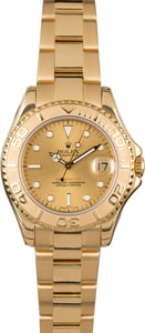 Pre-Owned Rolex Yachtmaster Ladies 18k Gold 68628