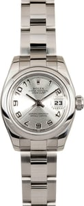 Rolex Ladies DateJust 179160 Silver Concentric Dial