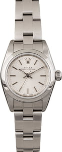 Pre Owned Rolex Lady Oyster Perpetual 76080 Silver Index Dial