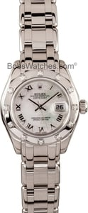 Lady Rolex Pearlmaster Mother Of Pearl