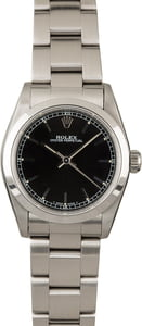 Used Rolex MidSize Datejust 67480 Black Dial