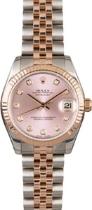 Midsize Rolex Datejust 178271 Pink Diamond Dial