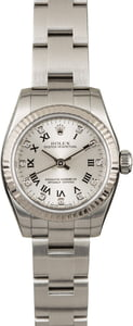 Rolex Lady Oyster Perpetual 176234 Silver Diamond Dial